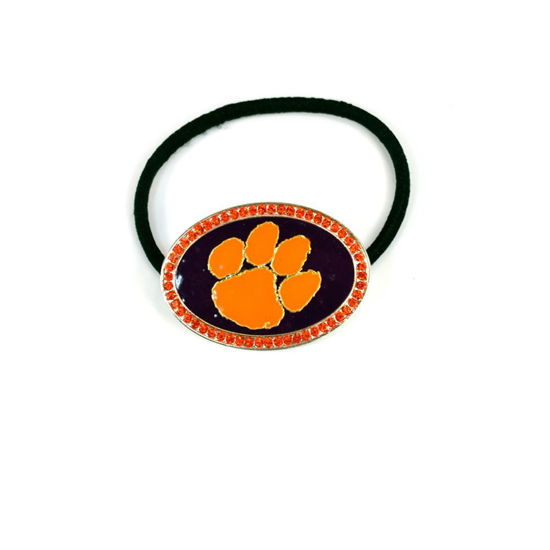 Seasons Jewelry Crystal Logo Hairband - Clemson Tigers