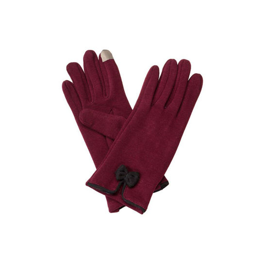 Occasionally Made Team Colors Bow Gloves - Garnet & Black