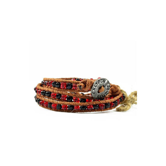 Calypso Studios Team Colors IT'S A WRAP Bracelet - Garnet & Black
