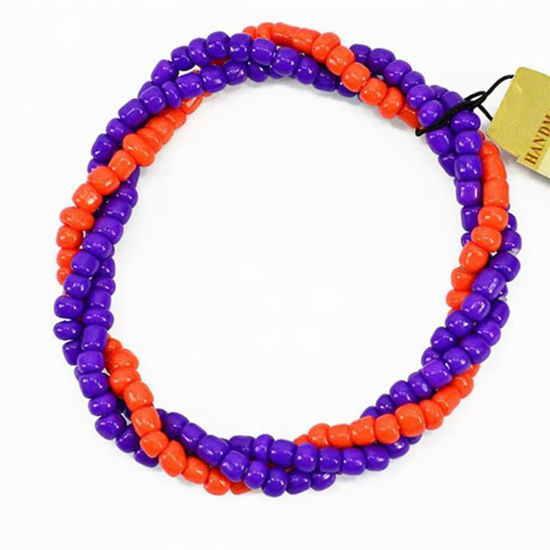 Calypso Studios Team Colors Twist Bracelet - Orange & Purple