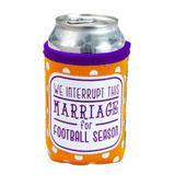 Team Colors Neoprene Coozie - Orange & Purple -  Interrupt This Marriage