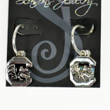 Seasons Jewelry Logo Hoop Earrings - USC Gamecocks