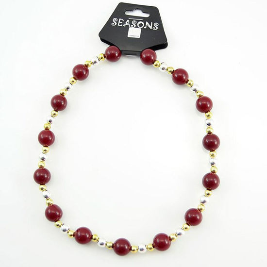 Team Colors Bead Necklace - Garnet & Gold