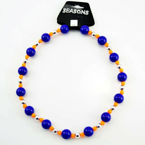 Team Colors Bead Necklace - Blue & Orange