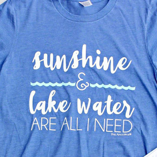 Sunshine & Lake Water Vintage Boyfriend Tee