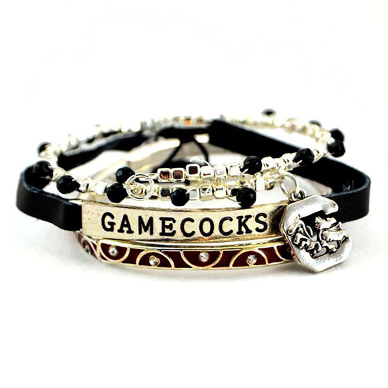 Seasons Jewelry Collegiate by Seasons Trio Bracelet - USC Gamecocks