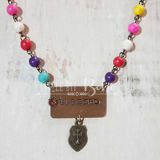 Multi-color BLESSED Pendant Necklace