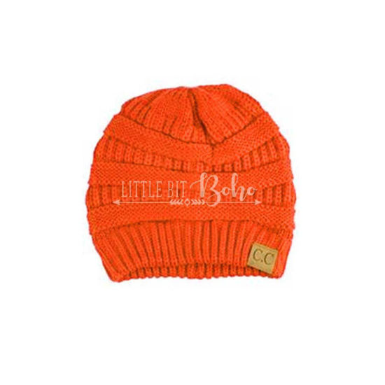 C.C Exclusives Cable Knit Beanie - Neon Collection