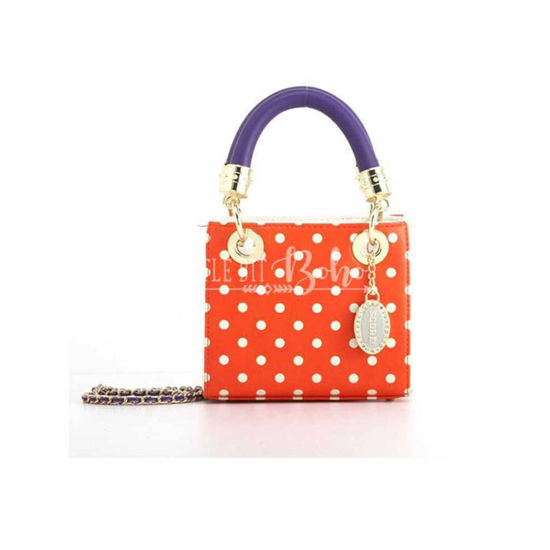 Jacqui Small Polka Dot Stadium Compliant Satchel
