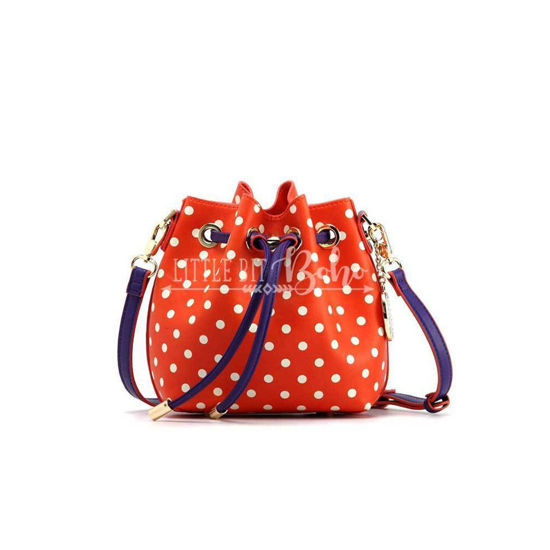 Sarah Jean Small Polka Dot Bucket Handbag
