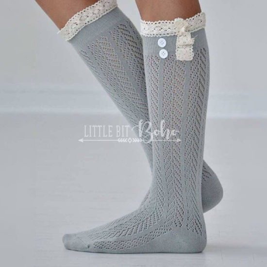 Peek a Boot Socks CHARLOTTE Boot Sock in Grey