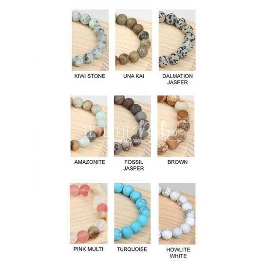 Natural Stone Beaded Bracelet Set