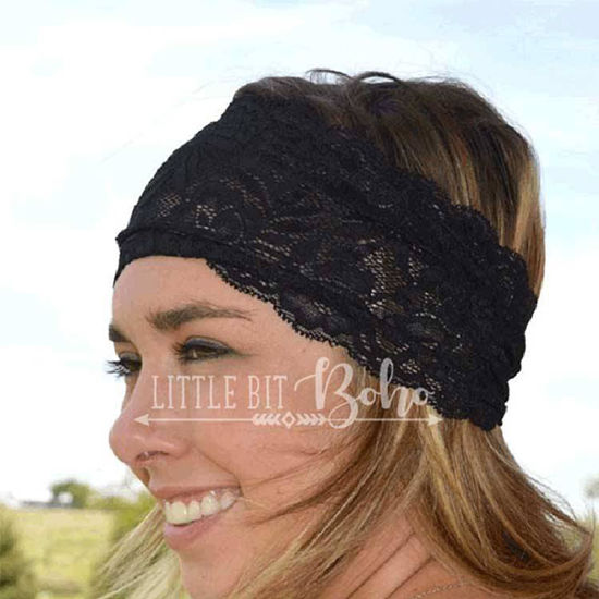 Crazy Train LACE 'N LOVE Headband in Black
