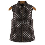Diamond Quilted Polka Dot Vest
