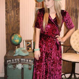 THE VAL Velvet Dress