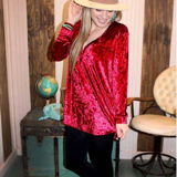 The RUBY RED Velvet Top
