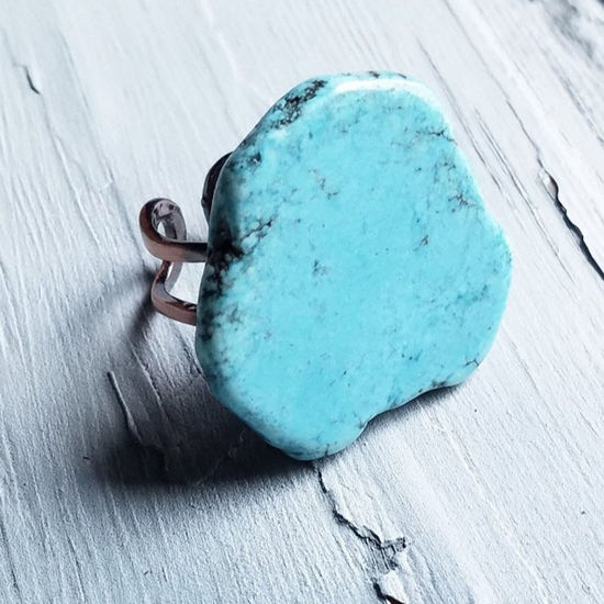 Blue Turquoise Chunky Ring
