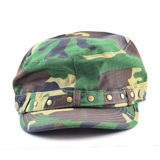 Studded Cotton Camouflage Cap