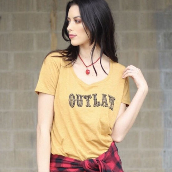 Outlaw Tee in Mustard
