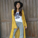 Black Striped Wide Bell Bottom Pants