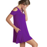 Team Colors Crisscross Dress - Purple