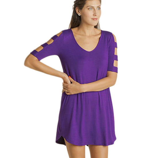 Team Colors Banded Sleeve Dress - Purple