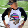 Crazy Train FOOTBALL FRENZY Baseball Tee - Unisex