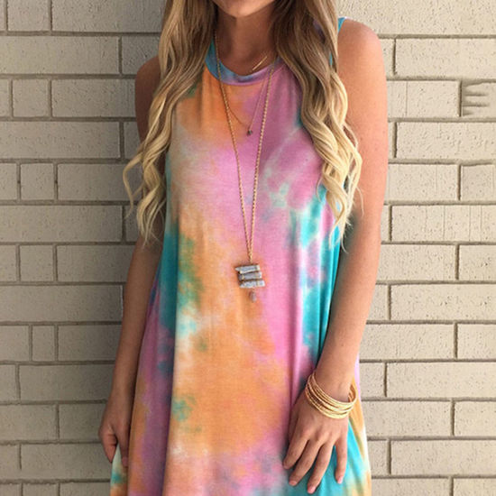 Paisley Kate Tie to the Dye Tank Dress