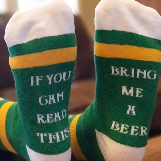 Bring Me a Beer St Patty Socks