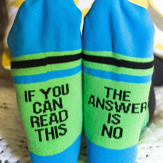 The Answer Is No Socks