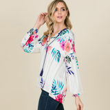 Floral Peasant Sleeve Top