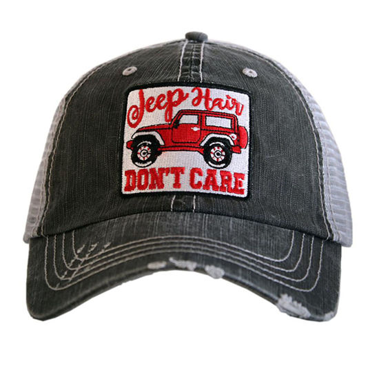 Jeep Hair Don't Care Patch Trucker Hat