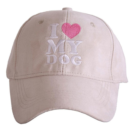 I Love My Dog Ultra Suede Baseball Hat