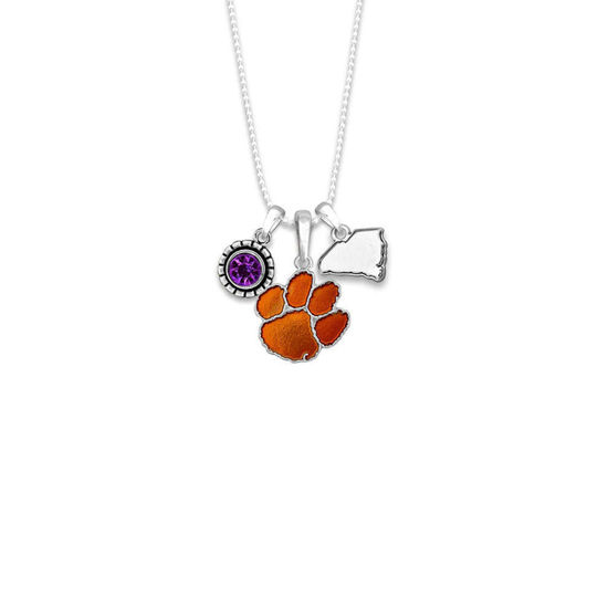 Clemson Tigers  - Home Sweet School Charm Necklace