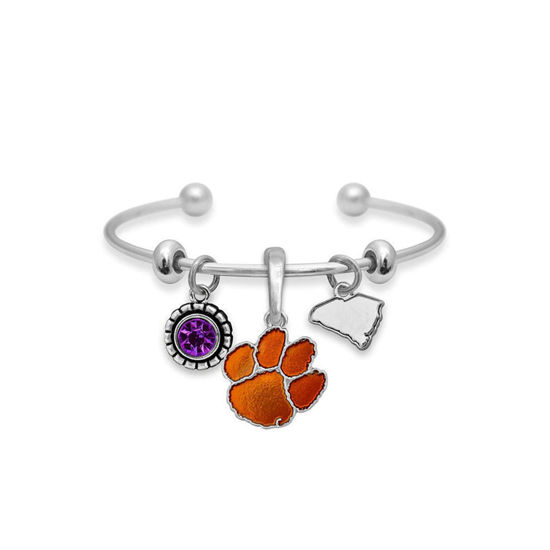 Clemson Tigers  - Home Sweet School Charm Bracelet