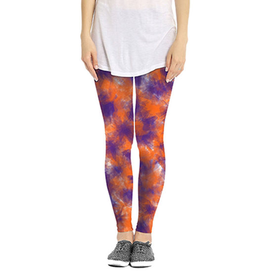 Orange & Purple Leggings - Watercolor