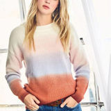 Ombre Color Block Knit Sweater