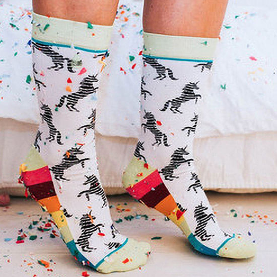 Unicorns and Rainbows Crew Socks