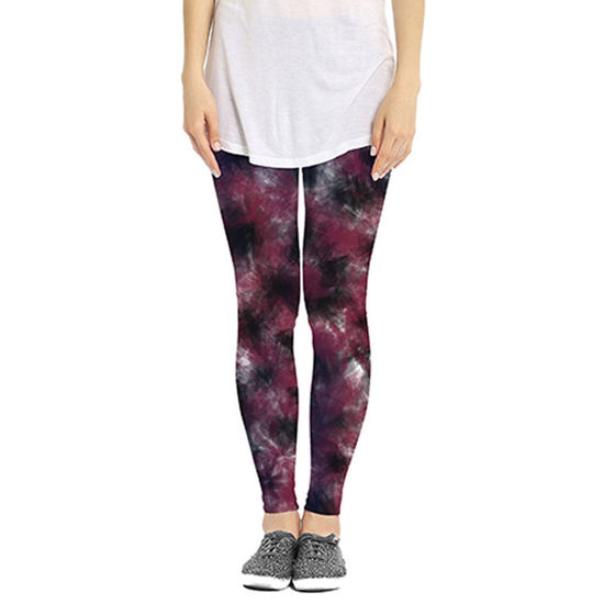 Garnet & Black Leggings - Watercolor