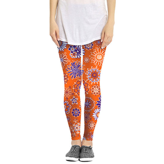 Orange & Purple Leggings - Flower Power