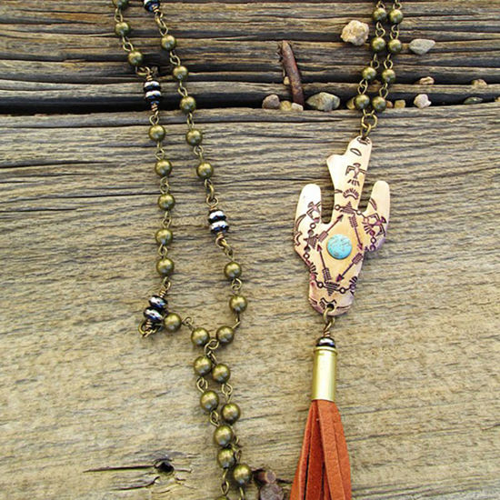 Cactus Necklace with Bullet Tassel