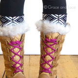Grace and Lace Aztec Patterned Reversible Boot Cuffs