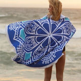 Round Beach Throw - Mandala