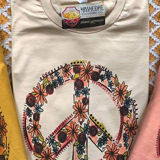Peace Sign with Flowers Tee