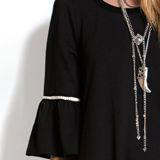 Easel French Terry Bell Sleeve Tunic