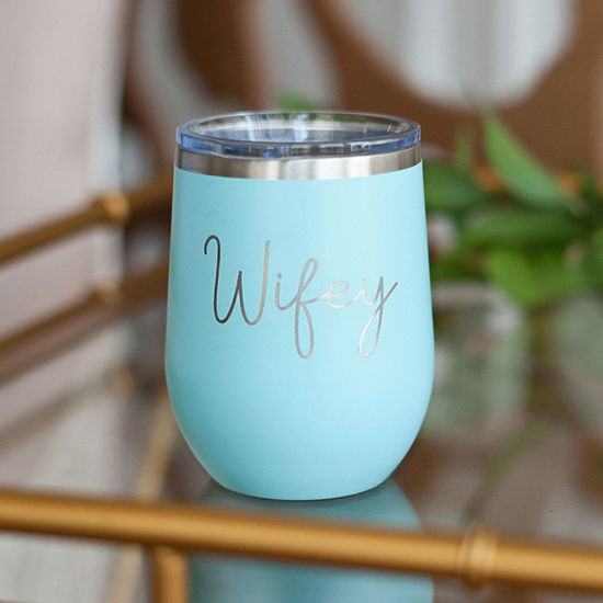 Teal Wifey 12oz Insulated Tumbler