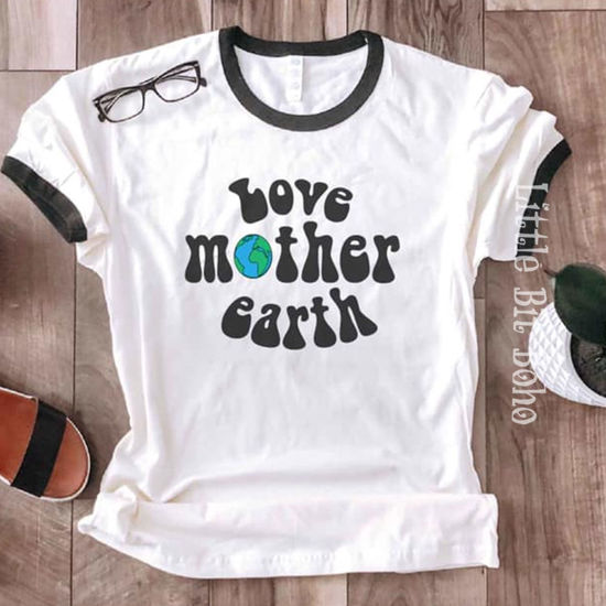 Love Mother Earth Ringer Tee