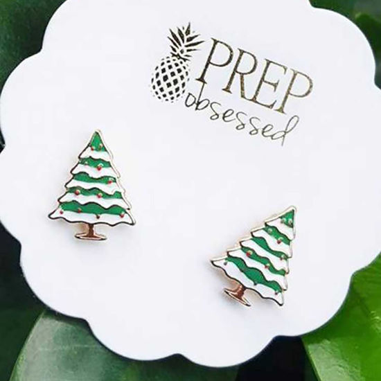 Christmas Tree Stud Earrings