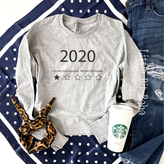 2020 Do Not Recommend Crop Tee in Heather Grey