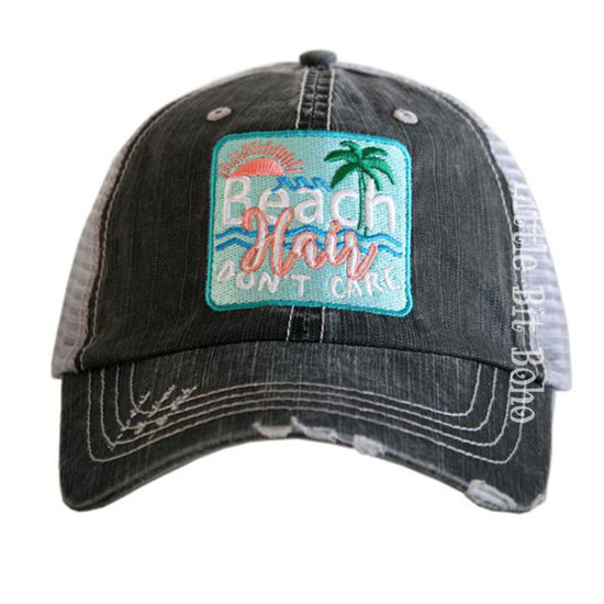 Beach Hair Don't Care Patch Trucker Hat